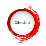 Röd målad cirkel med ordet Ödmjukhet i, ett av VSRs värdeord.