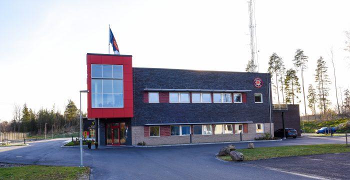 Brandstationen utifrån